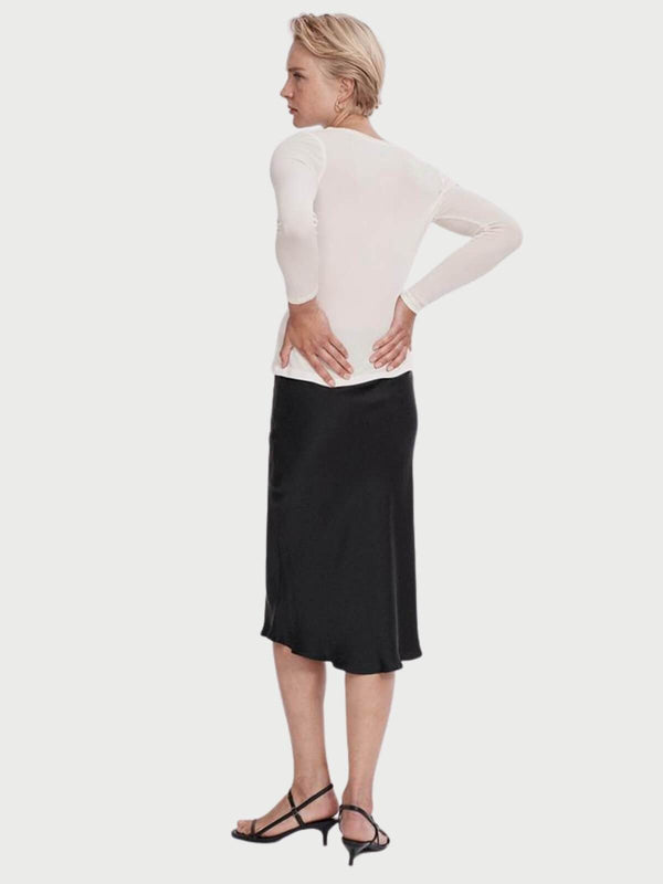 Bias Cut Silk Skirt - Black Skirts Silk Laundry