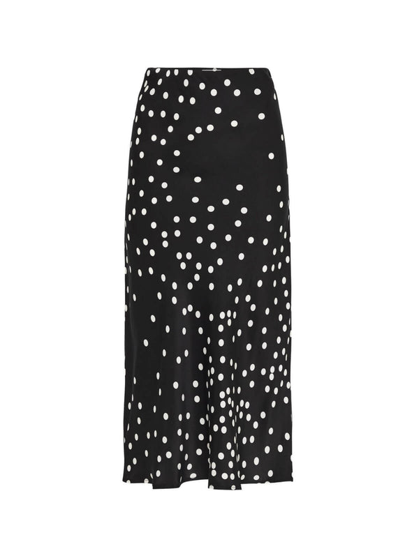 Silk Laundry Bias Cut Skirt Broken Dot | Perlu