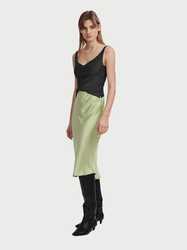 Silk Laundry Bias Cut Skirt Luminary | Perlu