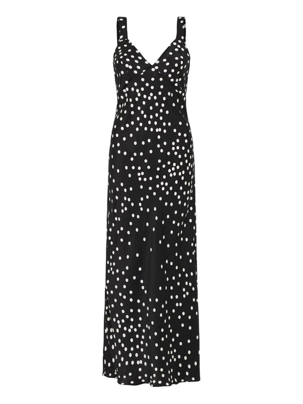 Silk Laundry Deco Slip Dress Broken Dot | Perlu