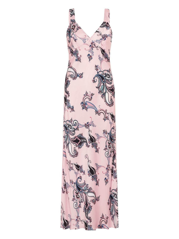 Silk Laundry Deco Slip Dress Pink Paisley | Perlu