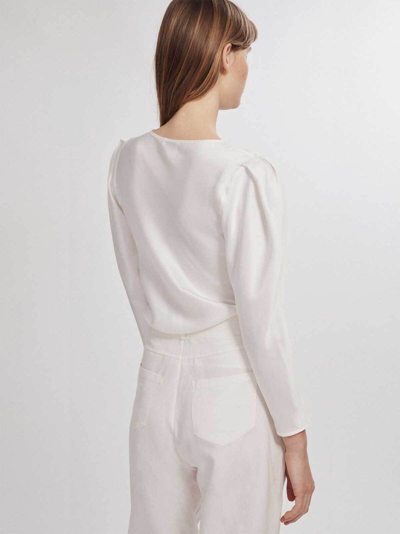 Silk Laundry Origami Sleeve Top | Perlu