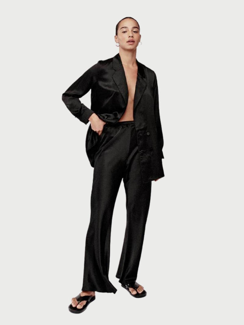 Silk Laundry Relaxed Blazer Black | Perlu