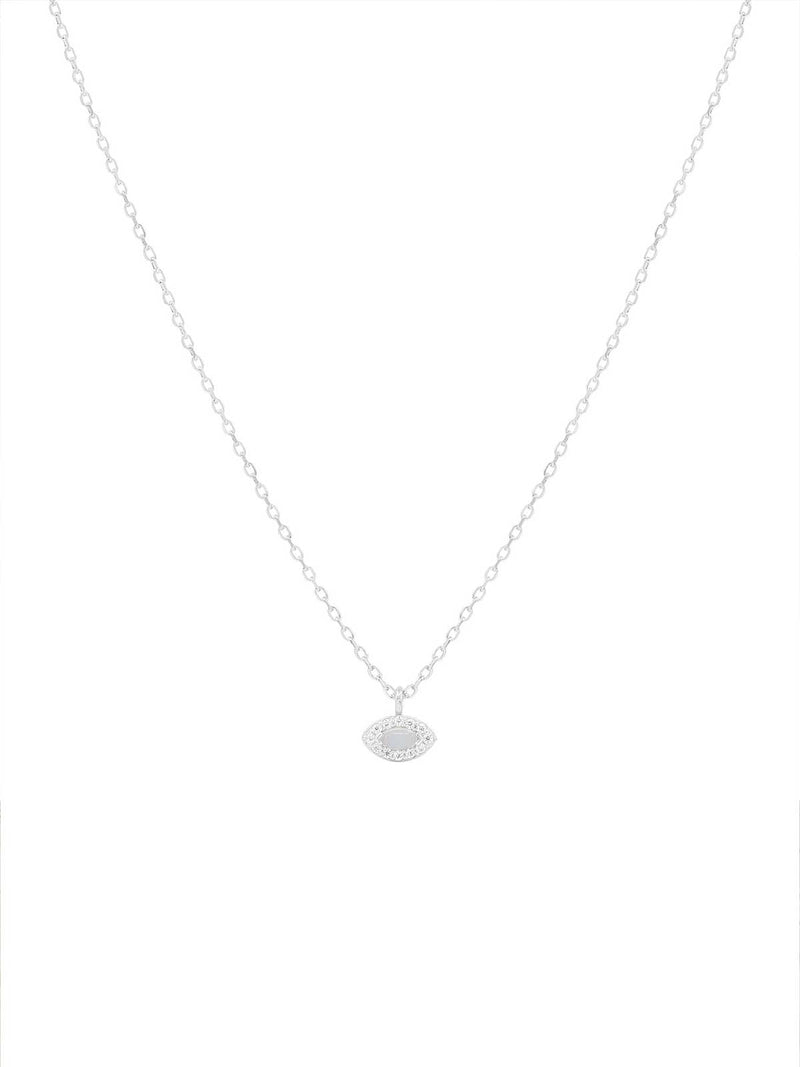 By Charlotte I Silver Eye Of Protection Necklace I Perlu