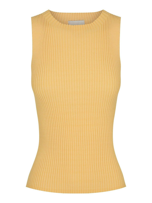 St Cloud Carrie Rib Knit Tank Apricot | Perlu