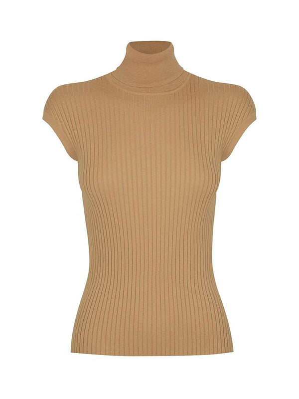 St. Cloud | Whitney Turtle Neck Tank - Camel | Perlu
