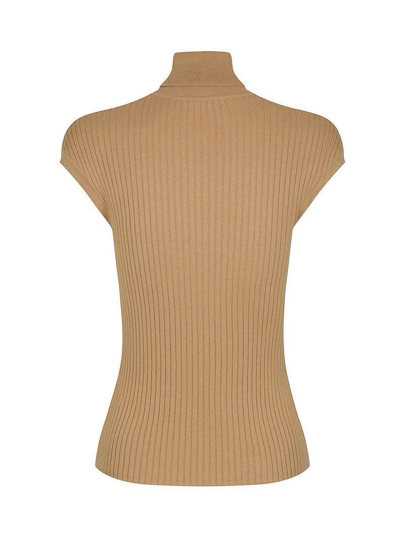 Whitney Turtle Neck Tank - Camel Jumpers & Cardigans St. Cloud