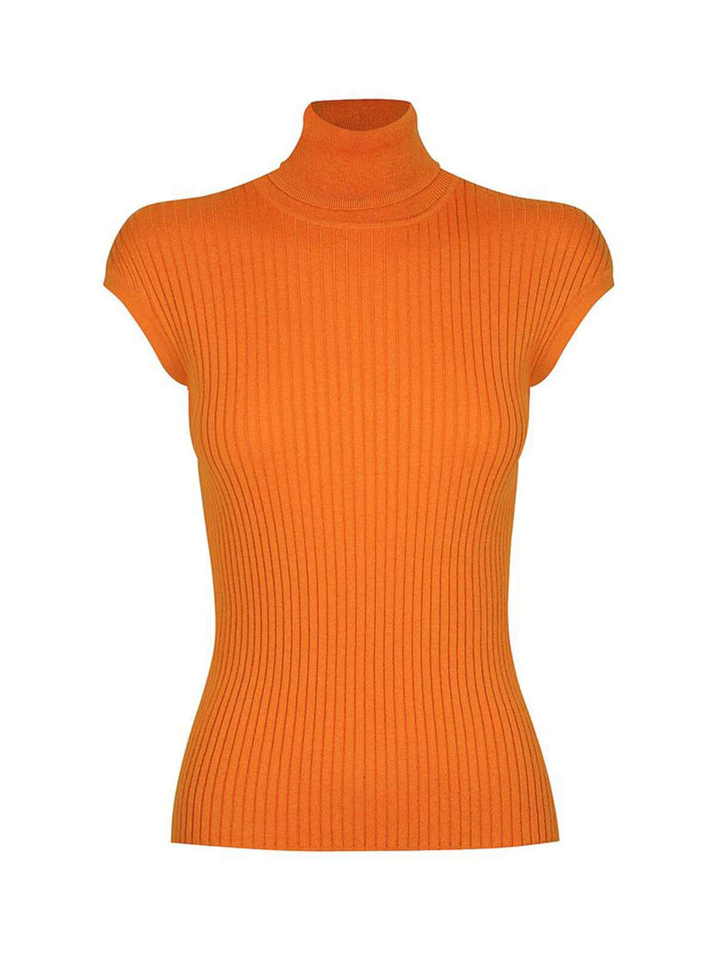 St. Cloud | Whitney Turtle Neck Tank - Orange Spark | Perlu