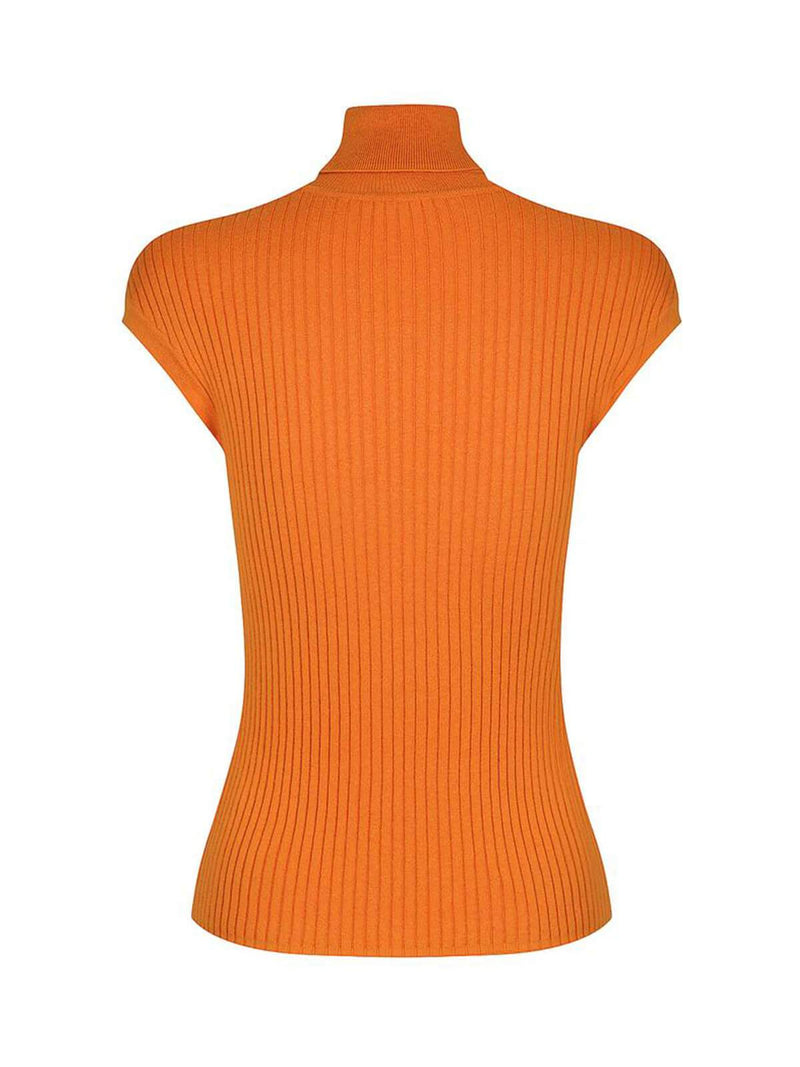 Whitney Turtle Neck Tank - Orange Spark Jumpers & Cardigans St. Cloud