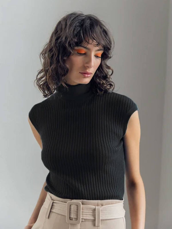 Whitney Turtle Neck Tank - Black Jumpers & Cardigans St. Cloud