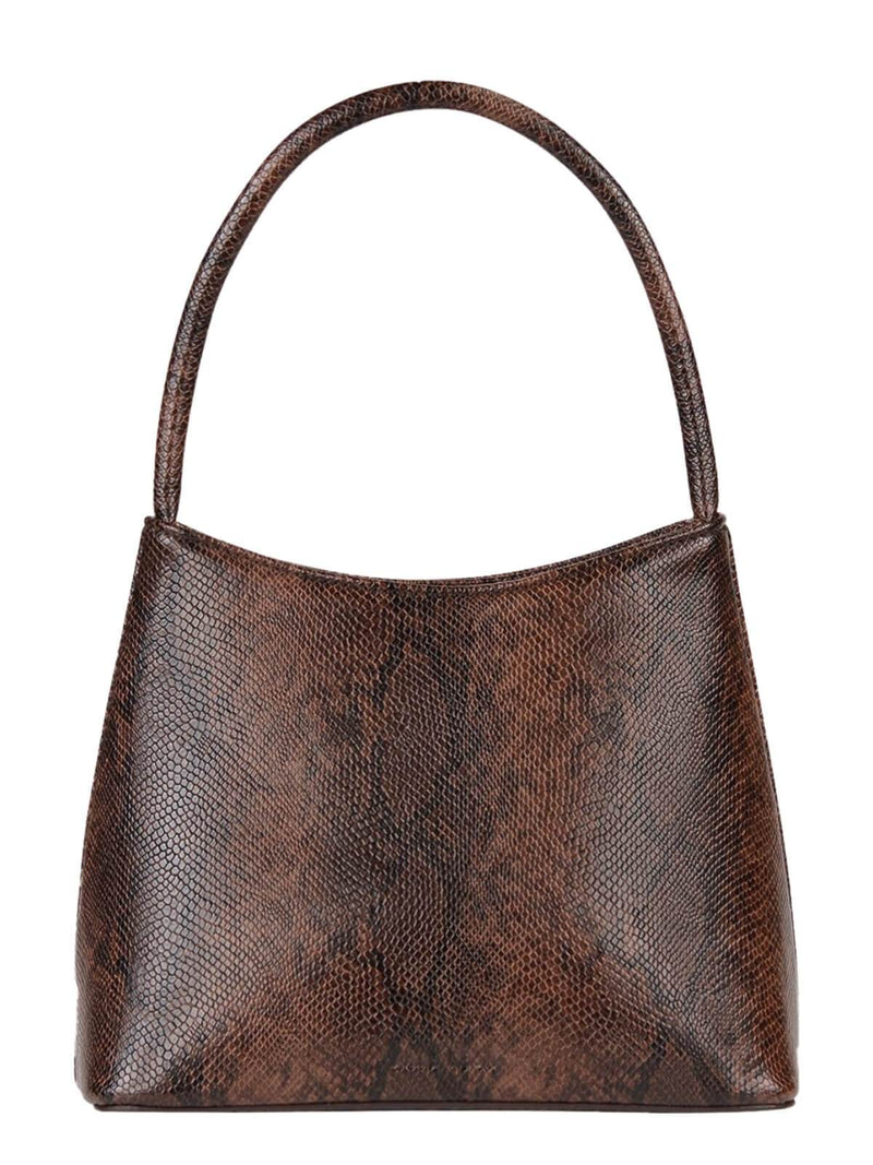Brie Leon The Chloe Bag Dark Brown Snake Skin | Perlu