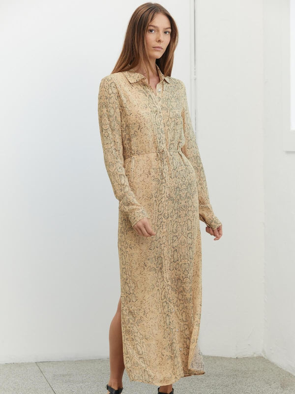 Third Form Animal Instincts Maxi Shirt Dress Snake | Perlu