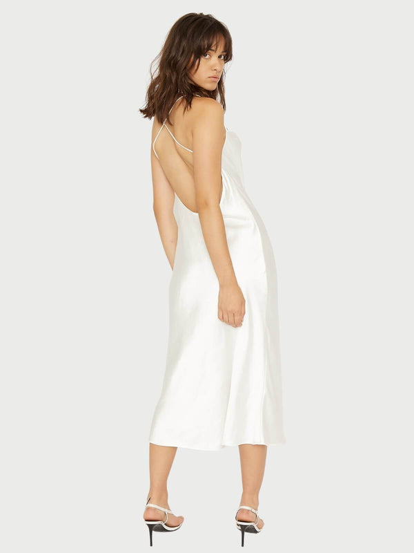 Third Form Cross Back Cowl Bias Slip Off White | Perlu