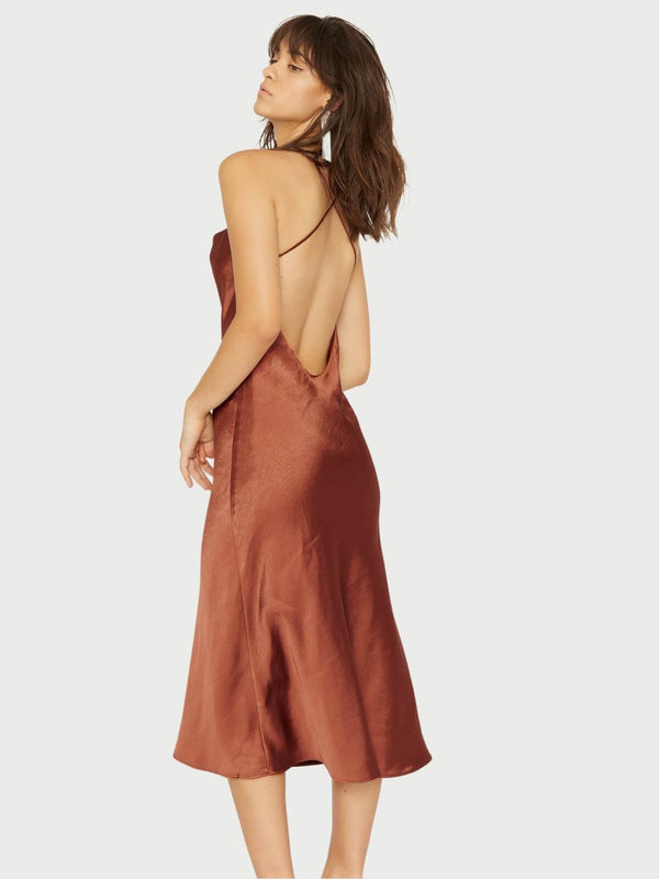 Third Form Cross Back Cowl Bias Slip Sienna | Perlu
