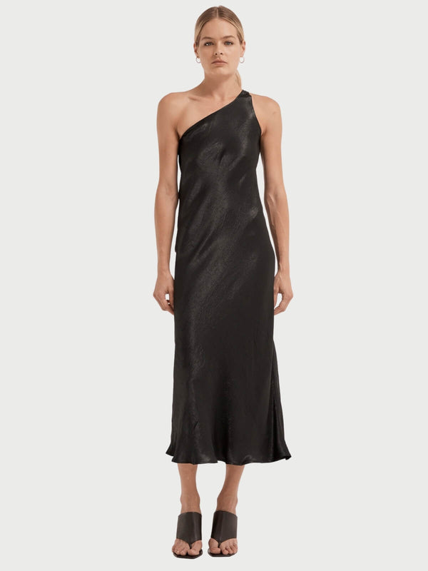 Third Form | Running Water One Shoulder Slip - Black | Perlu