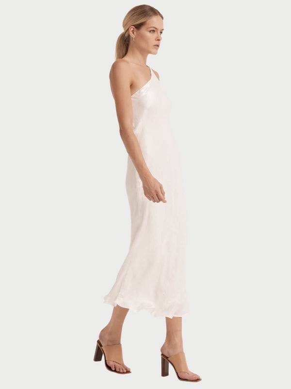 Third Form | Running Water One Shoulder Slip - White | Perlu