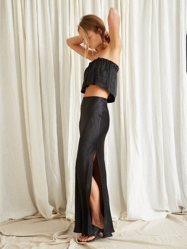 Third Form Waters Edge Bias Maxi Skirt Black | Perlu