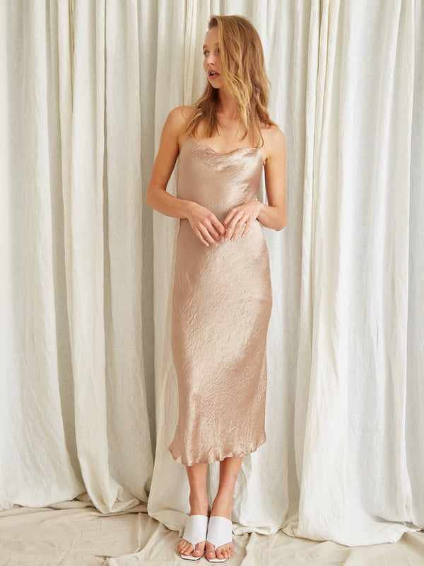 Third Form Waters Edge Bias Slip Dress Misty Rose | Perlu