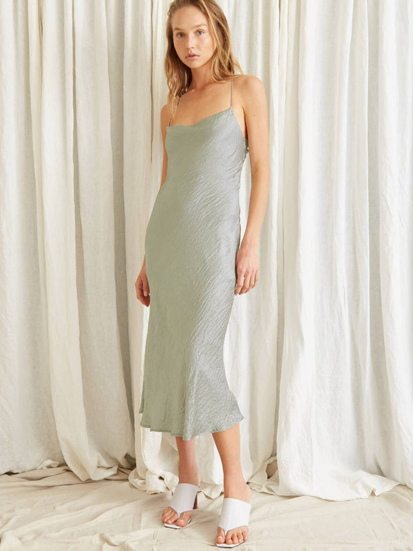 Waters Edge Bias Slip Dress - Sage Dresses & Jumpsuits Third Form