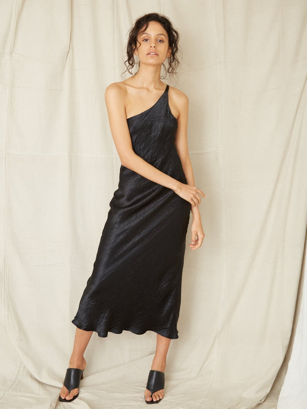 Third Form Waters Edge One Shoulder Maxi Black | Perlu