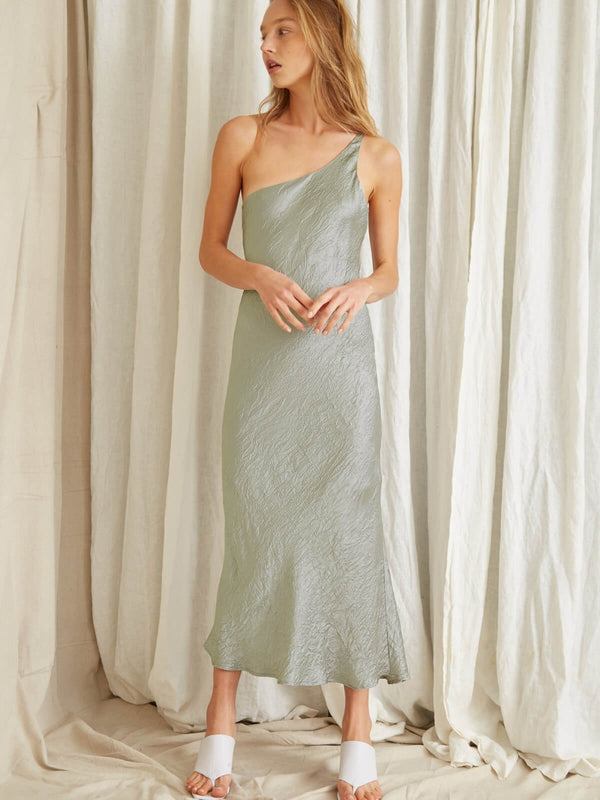Third Form Waters Edge One Shoulder Maxi Sage | Perlu