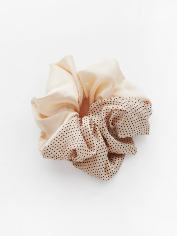 Valet Studio | Cindy Semi Dot Scrunchie - Cream | Perlu
