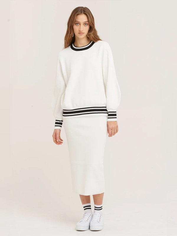 Vestire Sure Thing Sweater White | Perlu
