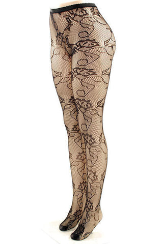 Floral Fishnet Stockings - Pole Beauties and Beasts