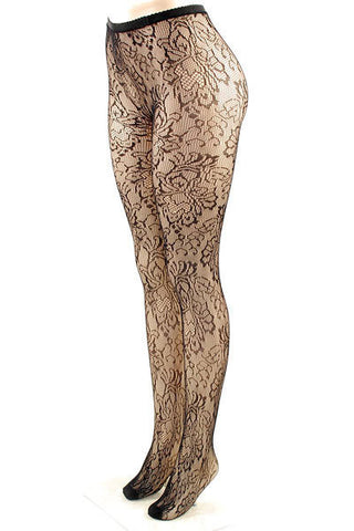 Floral Lace Stockings - Pole Beauties and Beasts
