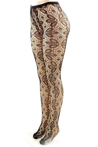 Floral Burst Fishnet Stockings - Pole Beauties and Beasts