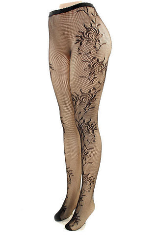 Wild Rose Fishnet Stockings