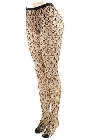 Fleur De Lis Fishnet Stockings - Pole Beauties and Beasts