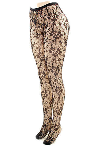 Floral Blossom Fishnet Stockings - Pole Beauties and Beasts