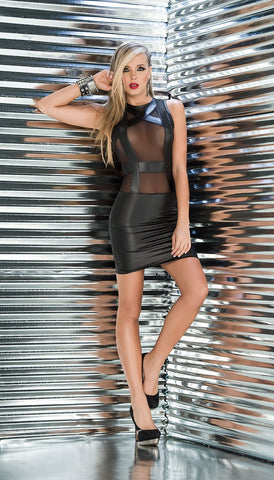 Exotic Mesh Mini Dress - Pole Beauties and Beasts