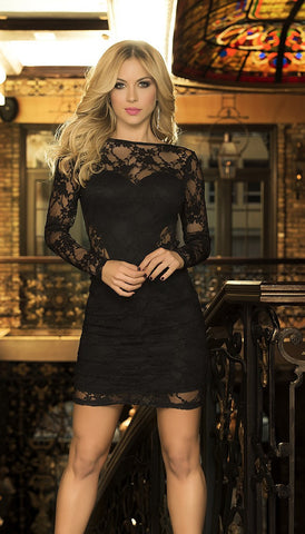 Luxurious Lace Mini Dress - Pole Beauties and Beasts