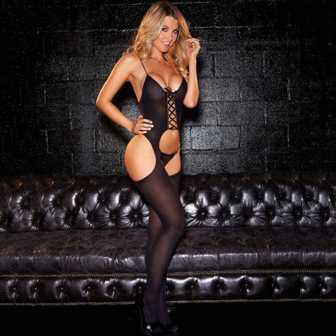 Crotchless Sheer Bodystocking - Pole Beauties and Beasts