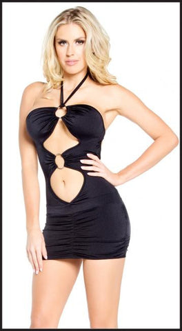 Double O Ring Mini Dress - Pole Beauties and Beasts