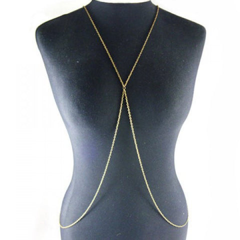 Chic Golden Link Body Chain For Women - Pole Beauties and Beasts