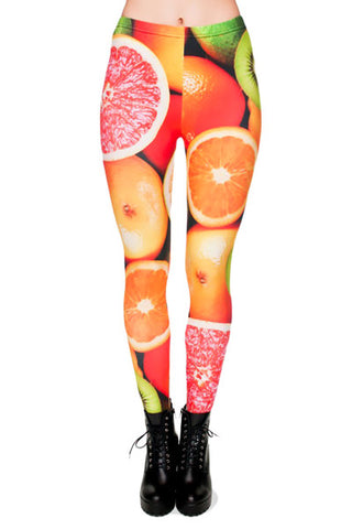 Citrus Fruit Leggings - Pole Beauties and Beasts