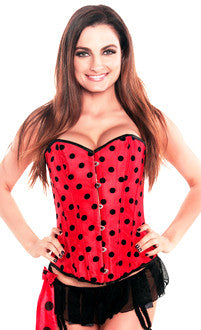 Valentine Red Polka Dot Pin-up Burlesque Corset Top