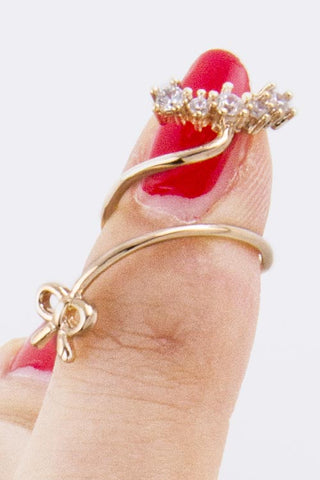 Delicate Bow Nail Tip Ring - Pole Beauties and Beasts