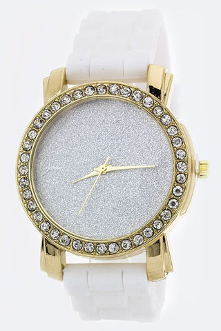 Glittered Dial Crystal Fashion Watch - Pole Beauties and Beasts