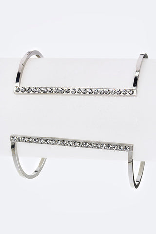 Crystal T Bar Open Cuff - Pole Beauties and Beasts