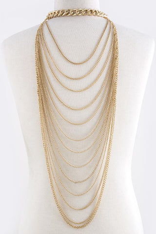 Tiered Body Chain Necklace Set