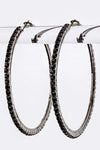 Single Row Rhinestone Rim Hoops