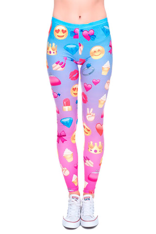 Ombre Emoji Leggings