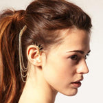 Retro Style and Stylish Rivet and Chain Embellished Earring With Comb