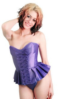Strapless Pleated Burlesque Skirted Corset Top