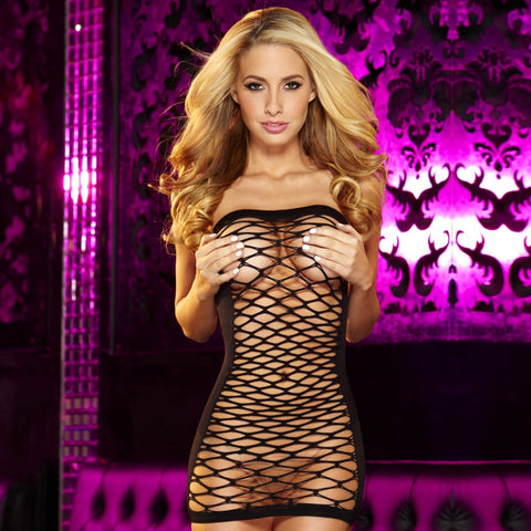 Fencenet Micro Mini Dress - Pole Beauties and Beasts
