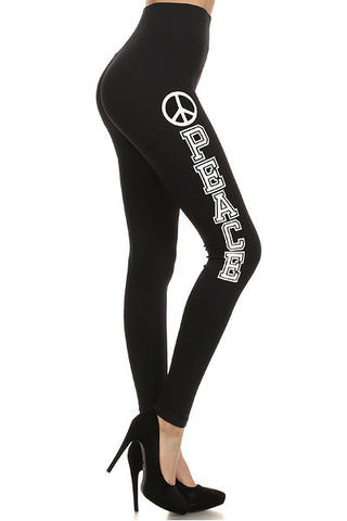 Peace Contour Seamless Leggings